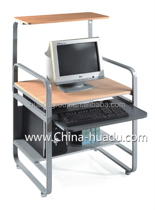 Wholesale Classic Office Table Designs Wood Office Computer Desk With CPU Stand