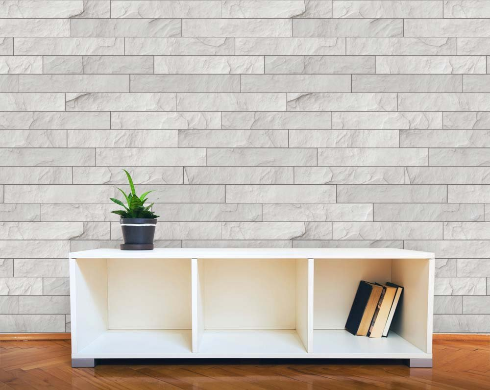 Get Quotations Wall26 Horizontal Soft Gray Brick Pattern Paneling Wall Mural Removable Wallpaper Home