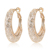 Best Selling Fashion Jewelry Gold Hoop Mesh Crystal Earrings