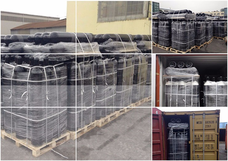 Good Quality ISO with TPED 40L 200bar Seamless Steel Nitrogen Cylinder