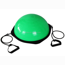 Eco-Friendly PVC Half Balance Ball With Resistance Bands