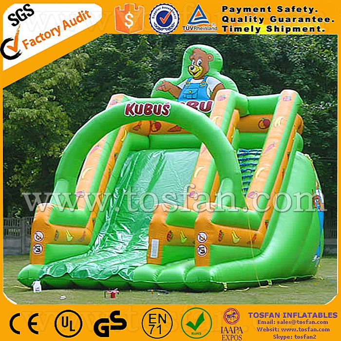 Commercial grade amusement park inflatable water slide A4018