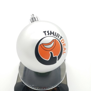 Christmas ball 8cm plastic , direct print on ball , plastic xmas ball with a full-color logo