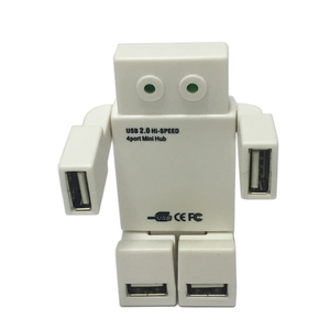 OEM Cute Robot High Speed 2.0 HUB 4 Port USB HUB