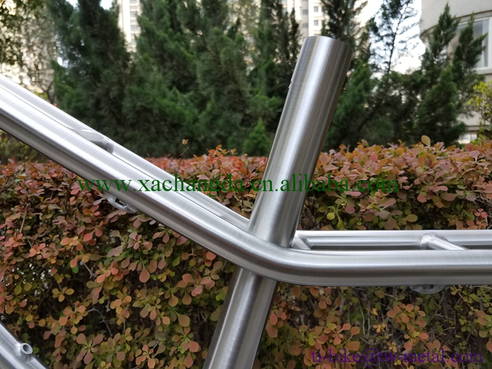 Hotsale Titanium bicycle frame tandem & super light titanium tandem bicycle frame , China Titanium road bicycle frame for tandem