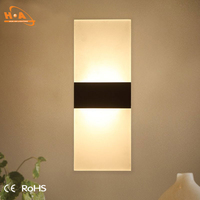 Acrylic modern indoor wall lamps rose gold led light for bedroom