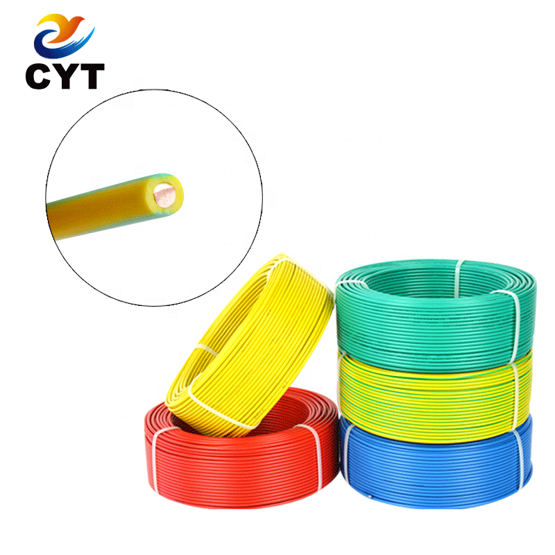 Good Price 4mm Single Core PVC Insulated Solid Copper House Wiring Cable Electrical <strong>Wire</strong>