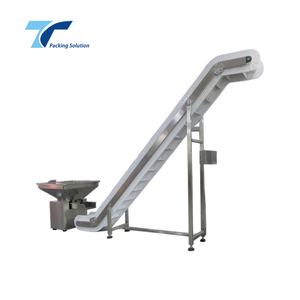 Foshan Factory Price Food Grade Inclined Rubber Belt Conveyor Feeding Machine for sale