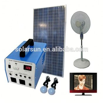 300W solar energy storage system with lithium battery built in for home office outdoor power supply