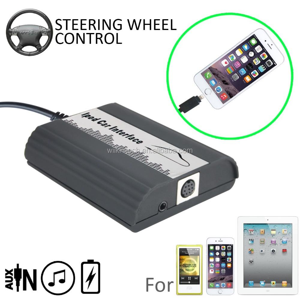 IPod iPad iPhone 4 5 6 Interface Lightning adaptador 6+6 para toyota radio original