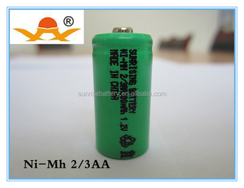 Rechargeable Ni-mh 2/3aa 1.2v 300mah Battery - Buy