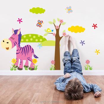 Cartoon Tiere Wandsticker Papier Für Baby Kind Raumdekoration ...
