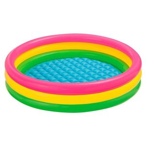 Intex 57412 Inflatable 3 rings kids large pvc baby play swimming pool
