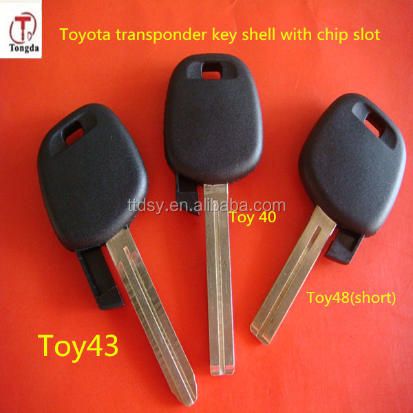 Tongda Promotional transponder key with 4C chip for Toyota