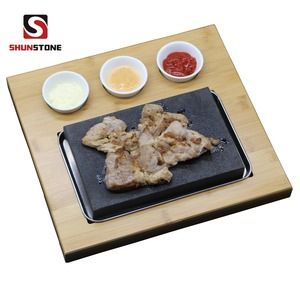 Restaurant Use Steak Cooking Hot Rock Grill Plate,Lava Stone Steak stone Grill Pan For Steak Cookware