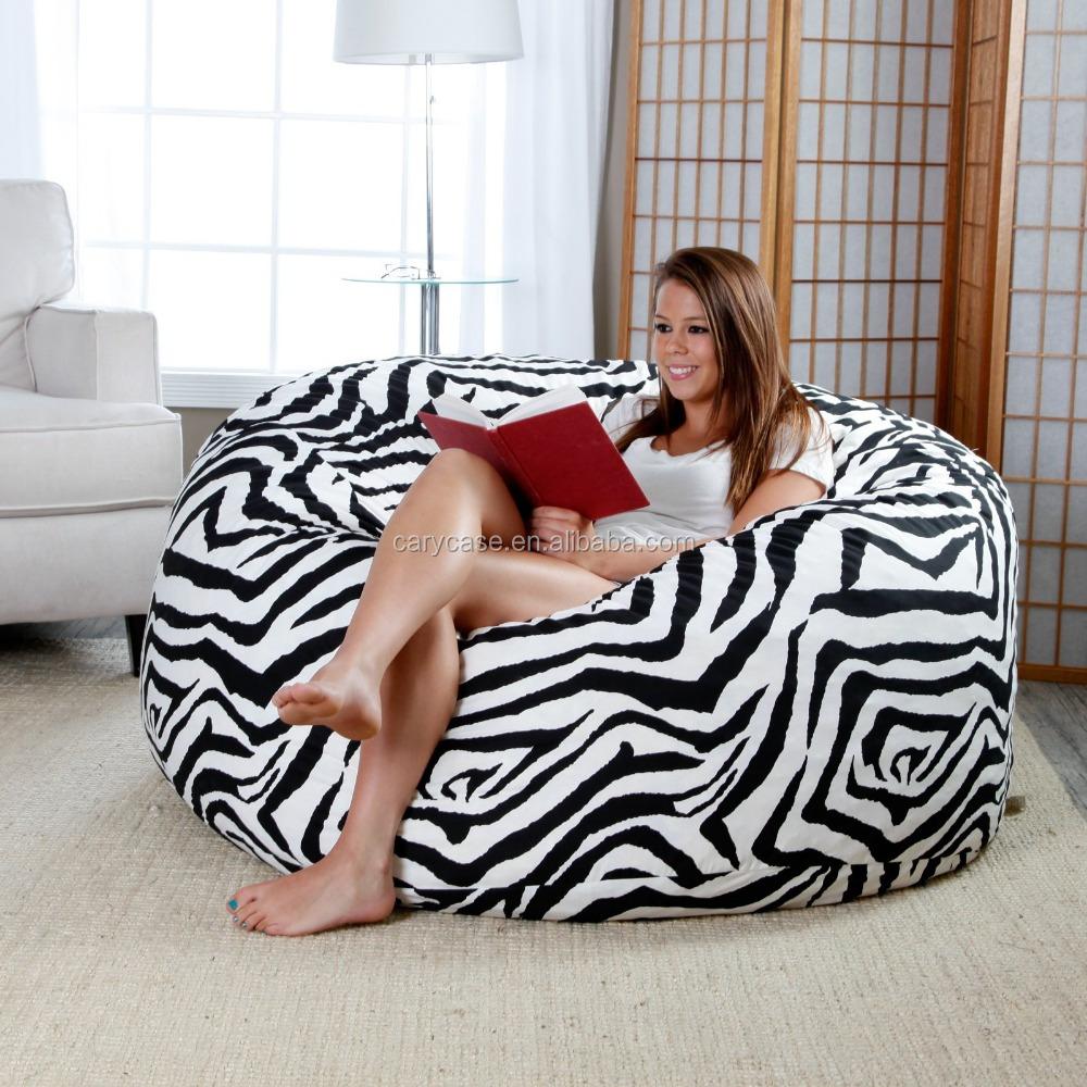 Wondrous 4 Ft Twill Fuf Foam Bean Bag Sofa Zebra Buy Sleeping Bag Sofa Bean Bag Sectional Sofa Lazy Bag Sofa Product On Alibaba Com Dailytribune Chair Design For Home Dailytribuneorg