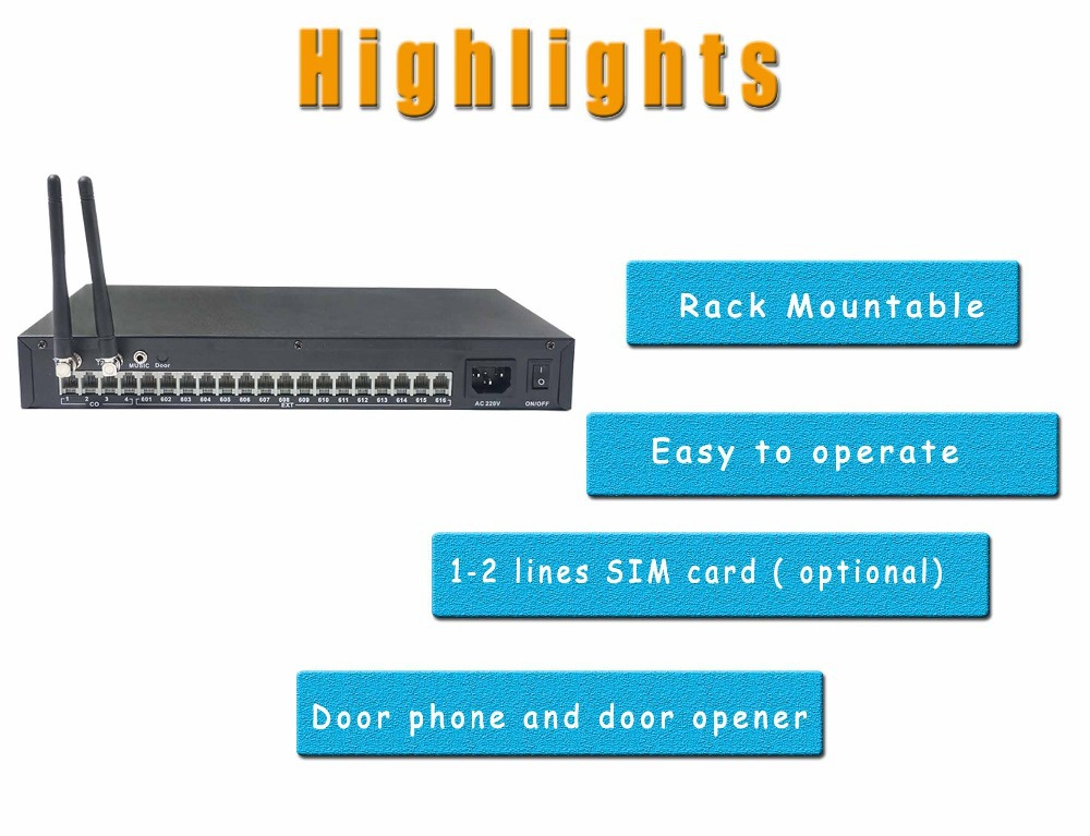 Telephone Exchange Gsm Pabx Pbx System With 1-2 Sim Card Ts+416 ...