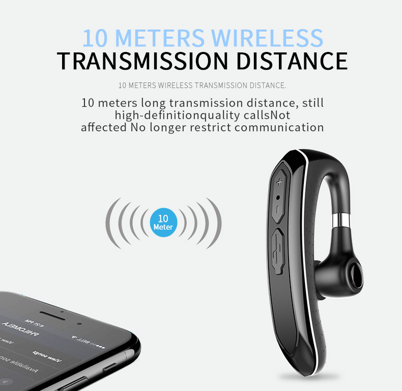 Sports single ear business Blue tooth headset car earbuds wireless ultra small Wireless Earphone headset gift for iphone
