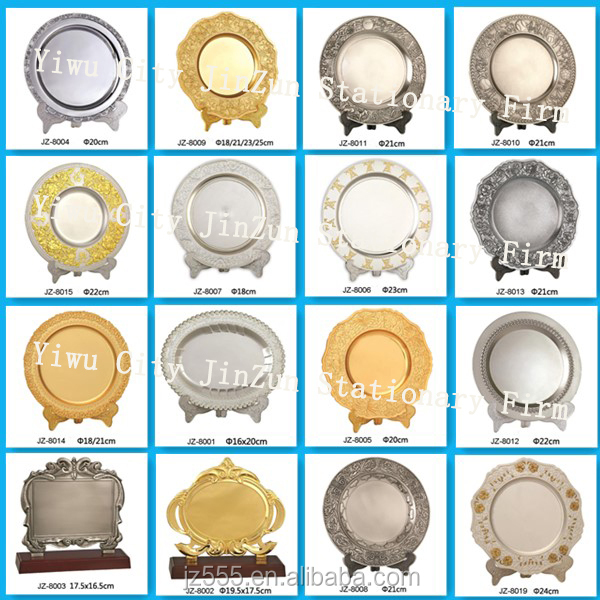 Wholesale antique metal souvenir plates