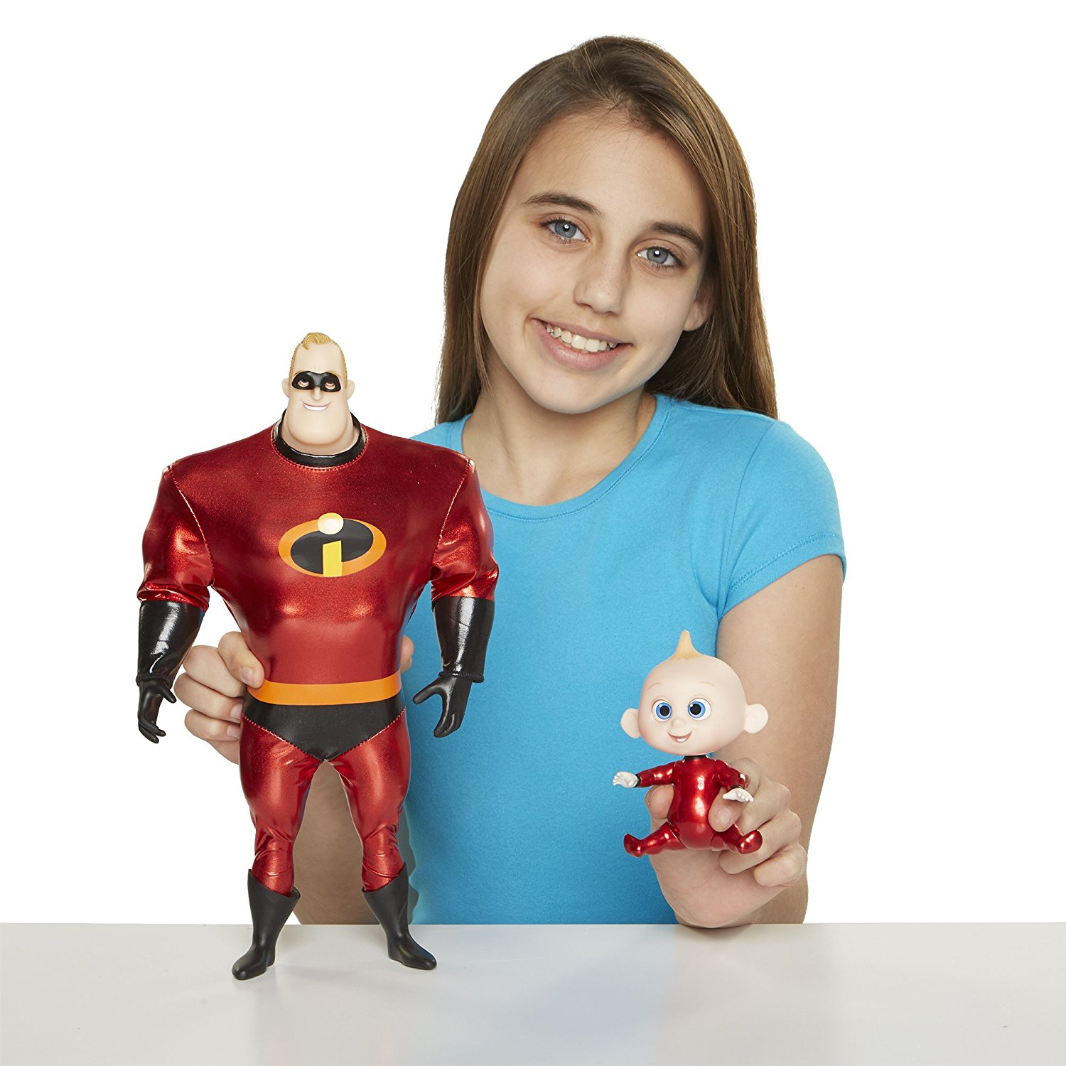cebcddec8 Get Quotations · The Incredibles 2 Mr.Incredible + Baby Jack Action Figures  Pack, 11