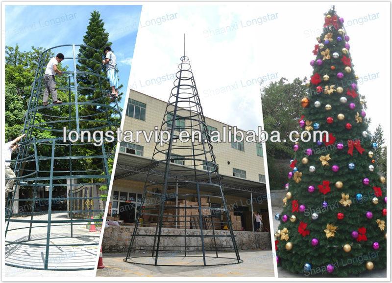 big gaint tree outdoor metal frame christmas tree 2013