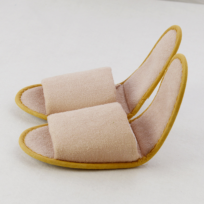 One Size Coloured Terry Velour SPA Slippers