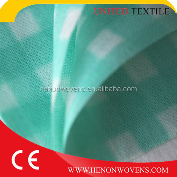 Printed grid 50%viscsoe50%polyester spunlace nonwoven wipes