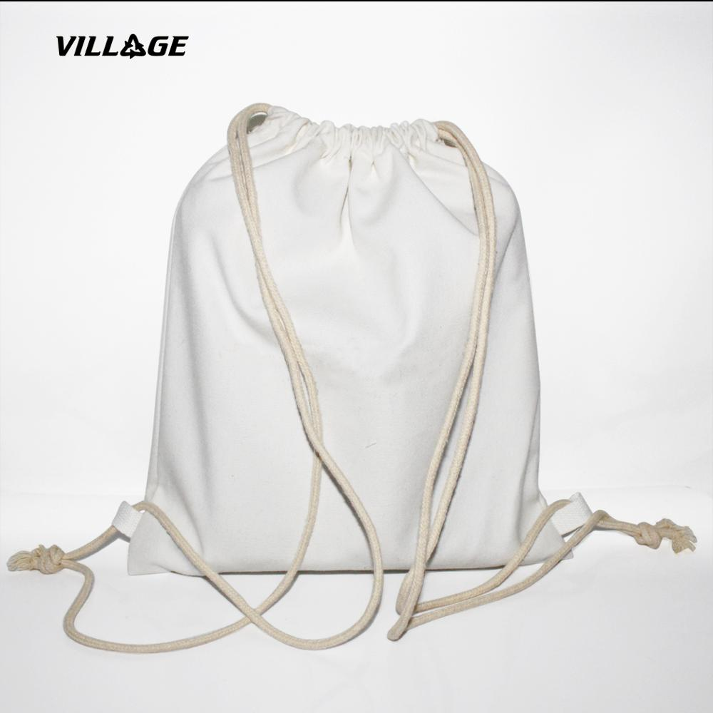 Cheap Wholesale 100% Cotton Fabric Drawstring Bag <strong>Eco</strong> Friendly White