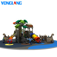 YL-H072 Castle Ship Outdoor Children Playground Kids Outdoor Pirate Ship Playground Kids Slide