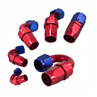 Elbow 45 Degree Red Hose Fitting Aluminum Female/Male Swivel Hose Ends