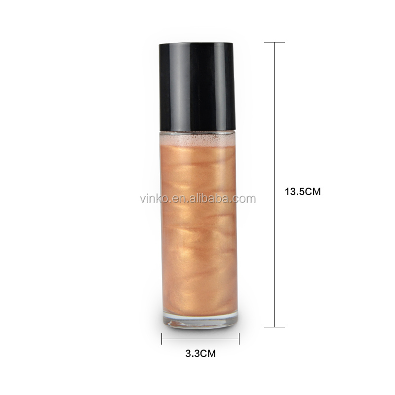 120ml Liquid Makeup Whole Body Highlighter Spray Private Label
