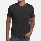 OEM high quality bamboo cotton V neck sports t shirt for men