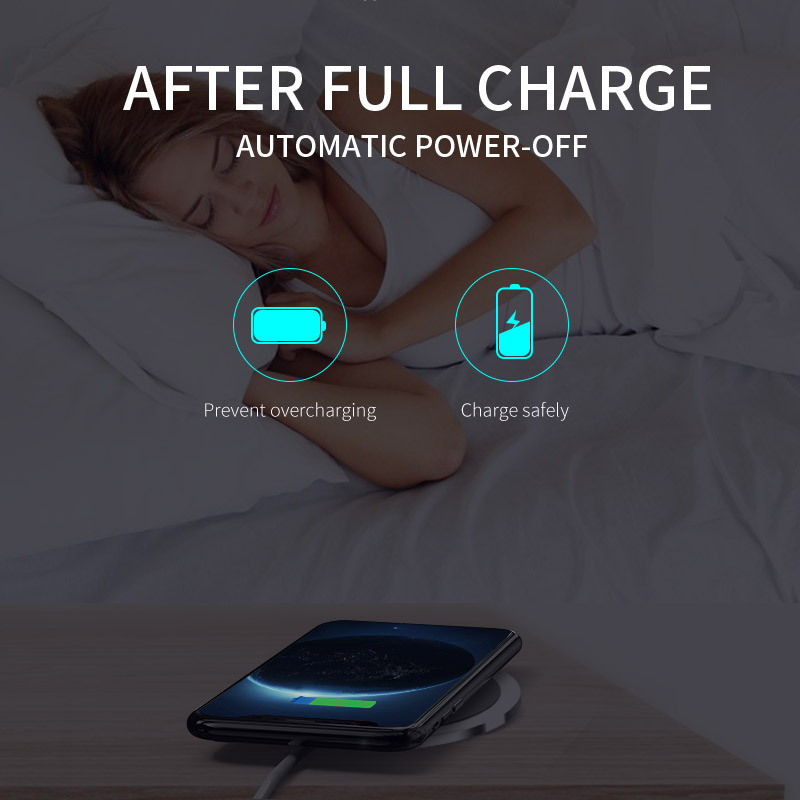 KAKU new 2018 qi charger 10 w zinc alloy fast x10 wireless charging pad charger