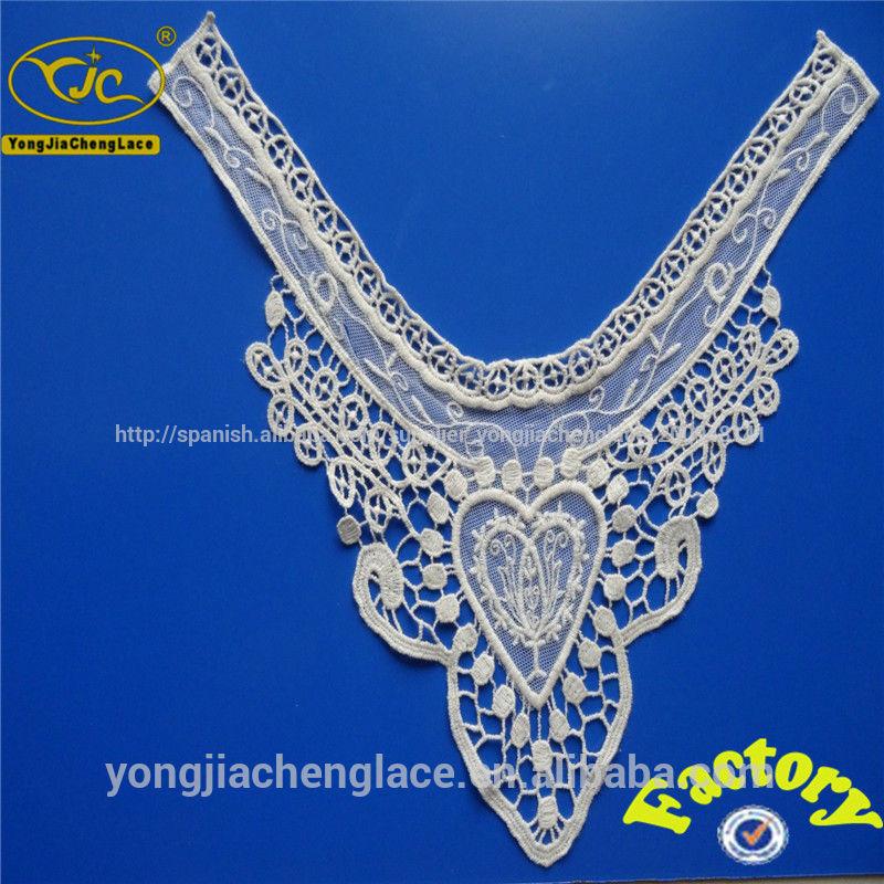tela de encaje de diseño collar para vestido de novia yjc15976 ...