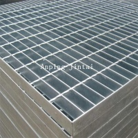 Anti-corrosion trench cover steel grating drain grill grate / hot dip serrated type steel grating / bar grating price