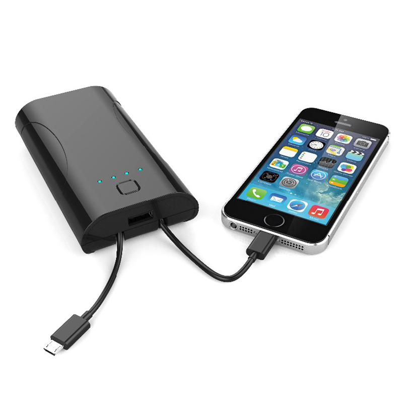 Fashionable 3 in 1 5200mAh battery charger 3 output AC foldable US plug charger power bank with ETL FCC CE.