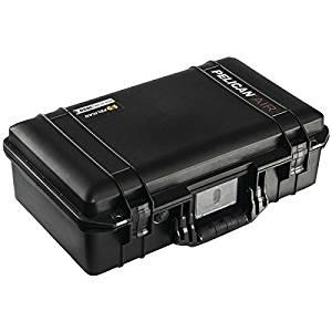 "PELICAN 015250-0010-110 Air(TM) Case (Model 1525 Internal dim: 20.5""H x 11.2""W x 7.2""D External dim: 21.96""H x 13.9""W x 7.49""D)"