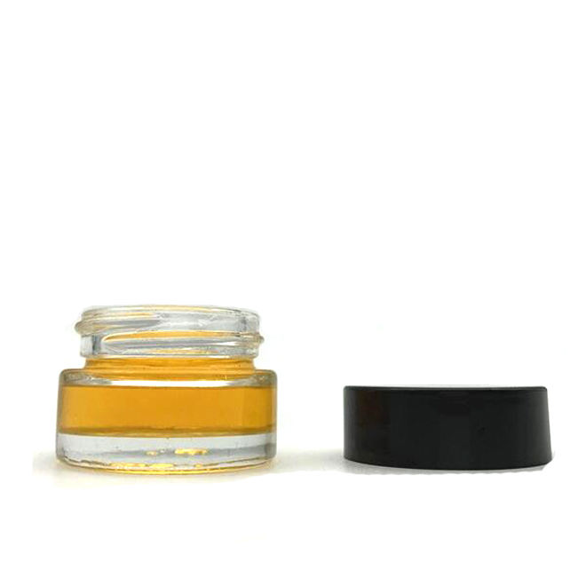 ราคาถูกราคา 5ml ล้างรอบแก้วขนาดเล็กเครื่องสำอางค์ Jar ฝาพลาสติกสีดำ