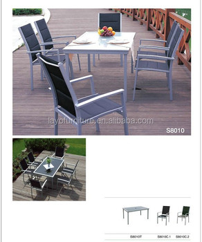 Outdoor Furniture Alum Table And Chair Resort Outdoor Furniture