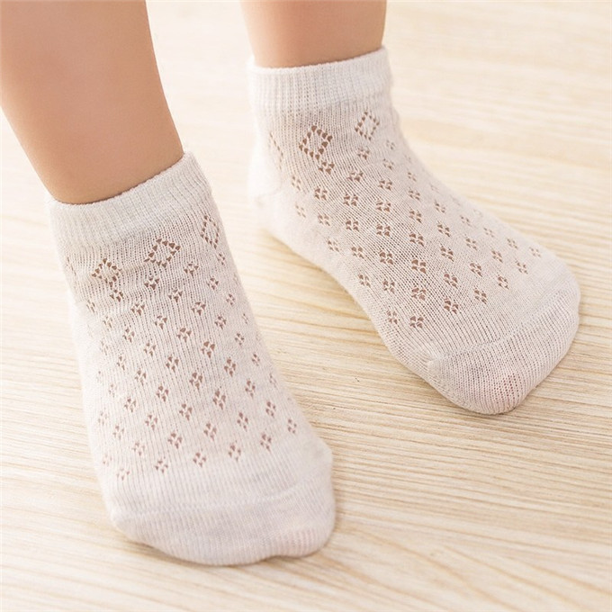 Comfortable Breathable Cotton Fabric Stitched Elastic Design Summer Style Baby Socks Anti Slip Boy Girl Sock
