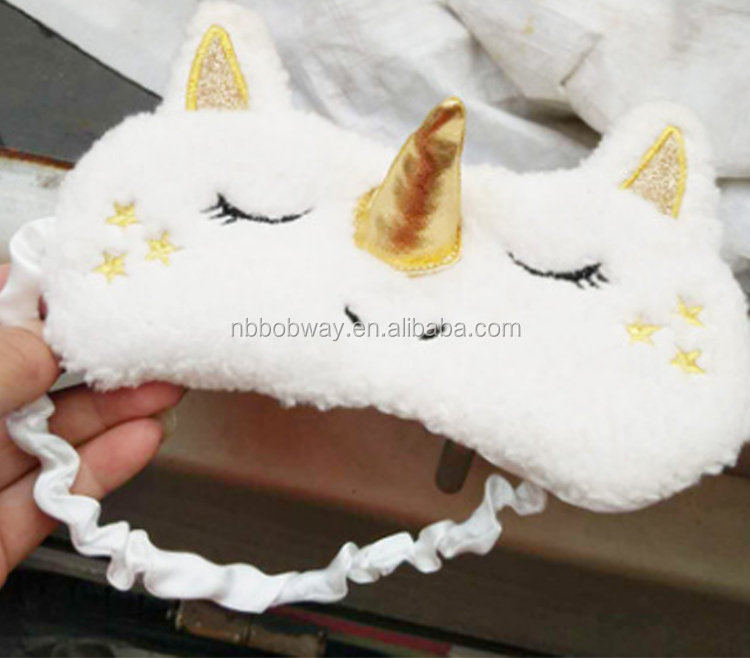 wholesale European and American fast selling eBay hot selling Unicorn sleep mask cartoon lovely Plush shade eye sleep mask