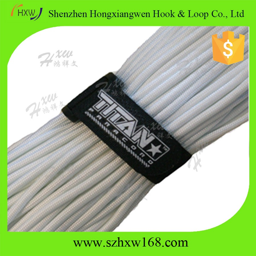China manufacturer self locking flexible fabric reusable hook and loop nylon soft cable tie
