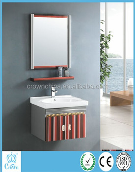 Modern 304 Stainless Steel Used Bathroom Vanity Cabinets