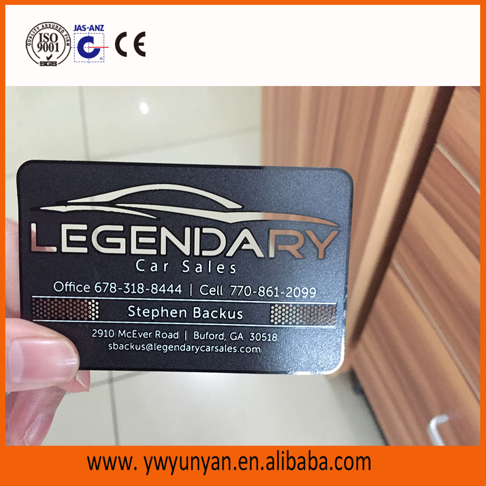 custom rose gold metal business card/metal membership card/etched metal card with customized printing