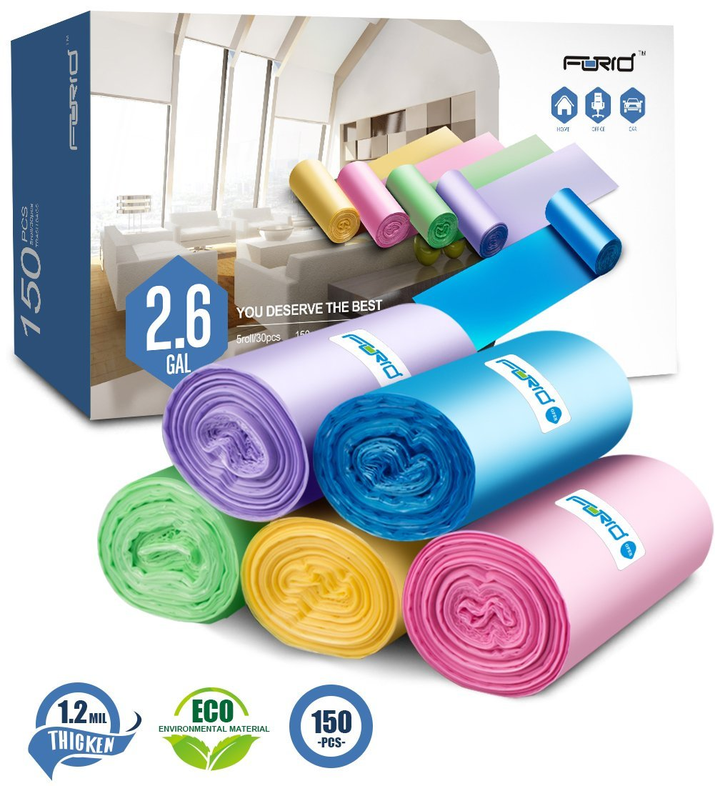 Get Quotations Small Trash Bags 2 6 Gallon Garbage Forid Bathroom Can Liners For Bedroom Home