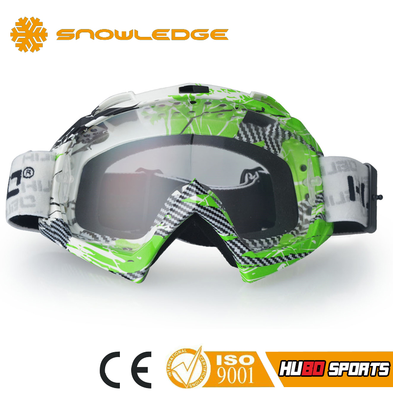 custom colorful fashion frame motocross dirt bike goggles motorcycle with tear off