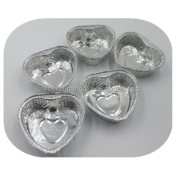 Microwave Souffle Cheese Mousse Baking Cup/ Container Heart Shape ...