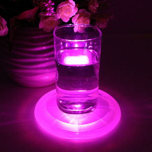 Factory Promotion LED Coaster LED Cup Mat For Drinking
