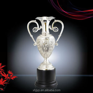 Excellent high quality large metal trophy figurines with resin base