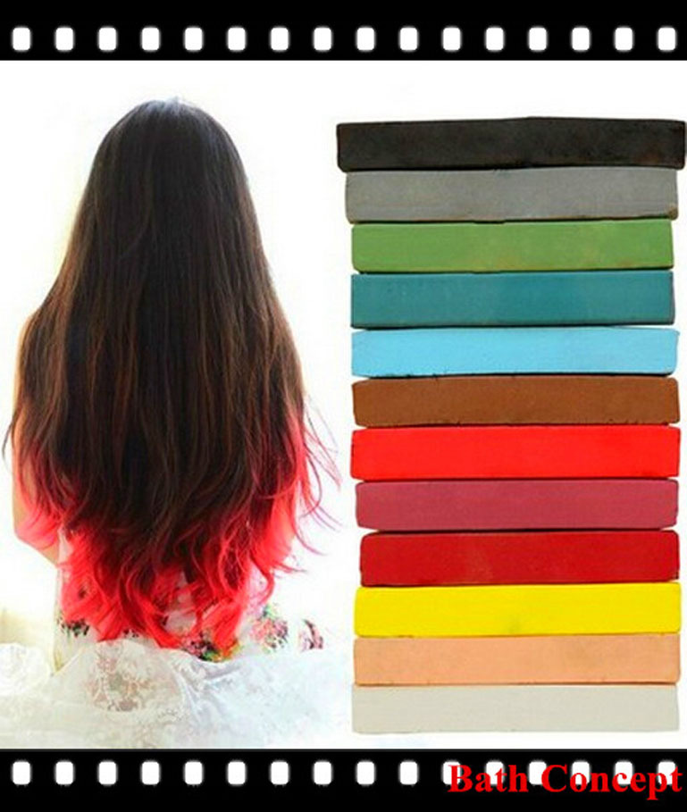 6pcs Set Pastel Hair Color Chalk For All Hair Types - Buy Hair ...